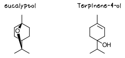 ユーカリプトール ターピネオール eucalyptol terpinene-4-ol